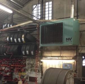Powrmatic gas fired warm air heater